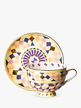 T2 Eleganza Cup & Saucer, 210ml, Canary
