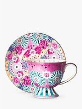 T2 Eleganza Cup & Saucer, 210ml, Flamingo Pink
