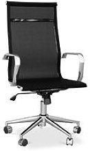 T9 Office Chair - Mesh & Metal - Wheels Black