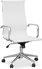 T9 Office Chair - Mesh & Metal - Wheels White
