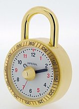 Table Clock Happy Larry Finish: Gold