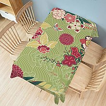 Table Cloth, Creative Plant Series, Cotton and