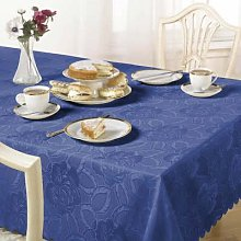 Table Cloth Damask Rose 50 x 70 inch Blue