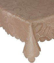 Table Cloth Damask Rose 63 inches Rd. Coffee