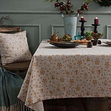 Table Cloth Style Linen Cotton Christmas Party