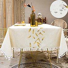 Table Clothes Rectangular Linen Cotton 140x220