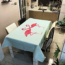 Table clothFlamingo Plants Print PVC Tablecloths