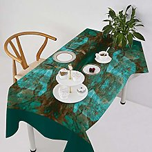 Table Cover Abstract South Western Boho Rust Teal