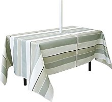 Table Cover Zippered Wrinkle Resistant Polyester