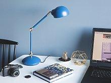 Table Desk Lamp Desk Blue Metal Adjustable Swing