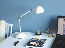 Table Desk Lamp Desk White Metal Adjustable Swing