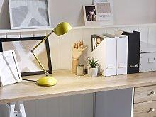 Table Desk Lamp Desk Yellow Metal Adjustable Swing