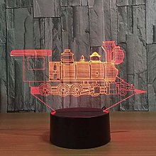 Table Desk Lamp with 7 Colorlamp Locomotive