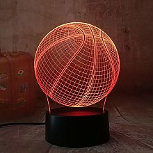 Table Desk Lamp with 7 Colorligh Cool Basketball