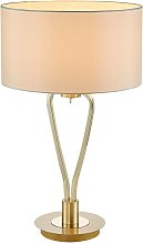 Table Lamp 'Gyda' in White made of Textile