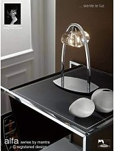 Table lamp Alfa large 1 Bulb G9, polished chrome