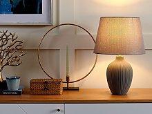 Table Lamp Bedside Light Grey Ceramic Base