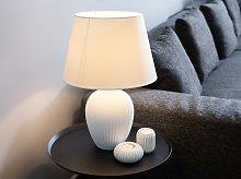 Table Lamp Bedside Light White Ceramic Base