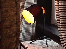 Table Lamp Black with Orange Metal 42H cm Tripod