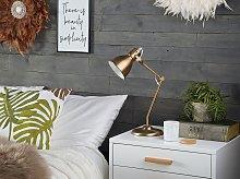 Table Lamp Brass Metal Adjustable Arm Reading