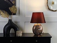Table Lamp Brown Ceramic 42H cm Decorative Base