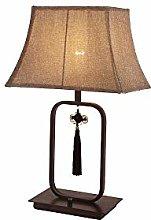 Table lamp, Chinese Mahogany Bedroom Bedside lamp