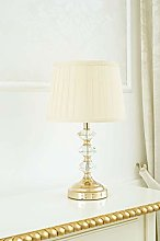 Table Lamp Clarissa Gold Classic Crystal Bedside