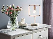 Table Lamp Copper Colour Metal Concrete Frame
