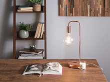 Table Lamp Copper Industrial Minimalistic No Shade