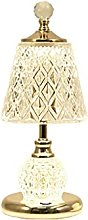 Table lamp Desk Lamps Three-Color Dimming Crystal