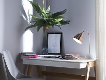 Table Lamp Desk Light Copper Metal Adjustable Bell
