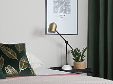 Table Lamp Gold with Black Metal Spotlight