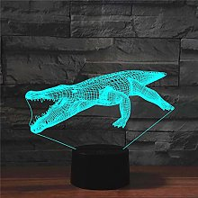 Table Lamp Lamps,Alligator Colorful 3D,Creative