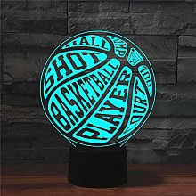 Table Lamp Lamps,Basketball Colorful 3D,Creative