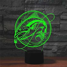 Table Lamp Lamps,Colorful 3D Fishing