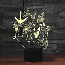 Table Lamp Lamps,Dragon Colorful 3D,Creative Touch