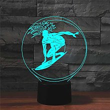 Table lamp Lamps,Surfing Colorful 3D