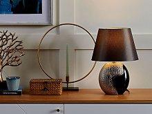 Table Lamp Silver Ceramic 42H cm Decorative Base