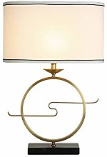 Table Lamp, Simple Modern Marble Copper Bedside
