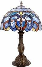 Table Lamp Tiffany Style Bedside Lamp-Blue Purple