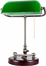 Table Lamp - Traditional Antique Banker Desk