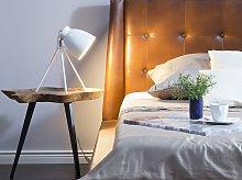Table Lamp White Colour Metal Tripod Stand