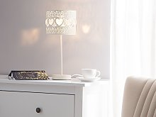 Table Lamp White Metal 45H cm Openwork Shade