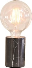 Table Lamp with Black Marble Base - Otto