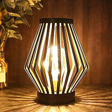 Table Lamps 22cm Tall Metal Cage LED Table Battery