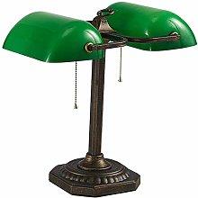 Table Lamps Desk Lamp Banker Lamp Green Shade