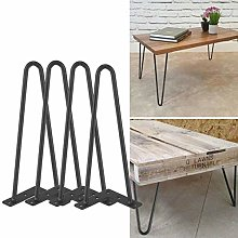 Table Legs,4Pack Heavy Duty Double Rods Iron