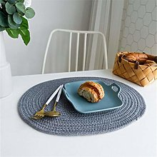 Table matOval Cotton Rope Placemat Hand Weave