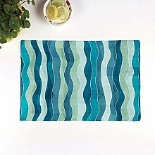 Table Mats,Abstract,Wave Pattern with Grunge