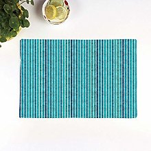 Table Mats,Abstract,Wavy Stripe Pattern with